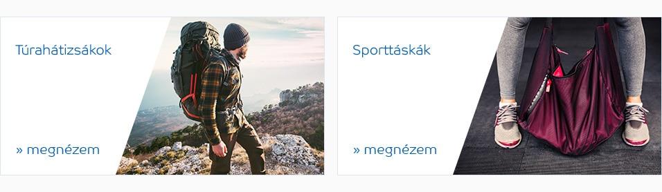 Hasznos linkek  Bőröndök Utazótáskák Túrahátizsákok Hátizsákok Sporttáskák  Utazási kiegészítők Fitnesz és ... 756d662cbd