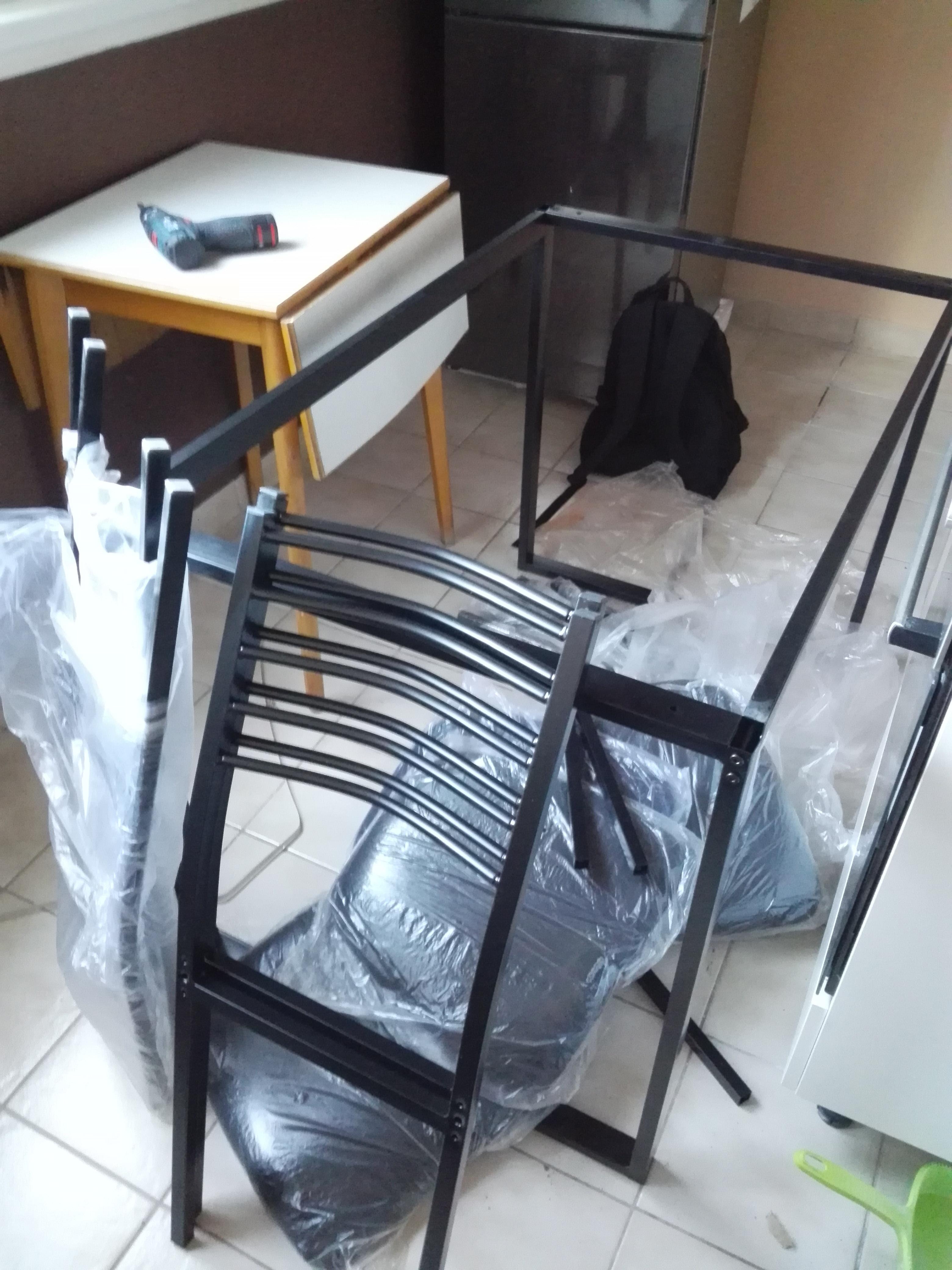 Kring London Étkezőgarnitúra, Asztal+4 szék, 110x70x75cm, Fekete eMAG.hu