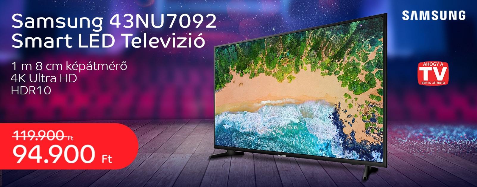 Samsung UE43NU7092UXXH Smart LED Televízió