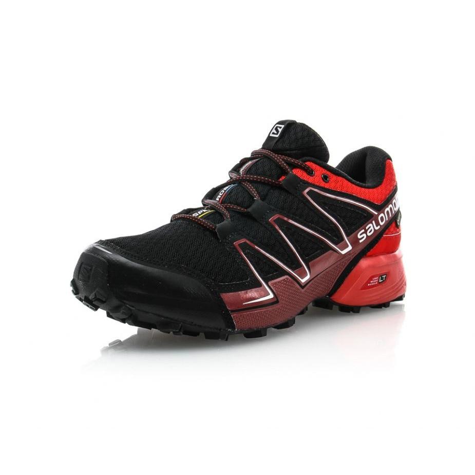 Buty sportowe męskie Salomon ze skóry ekologicznej