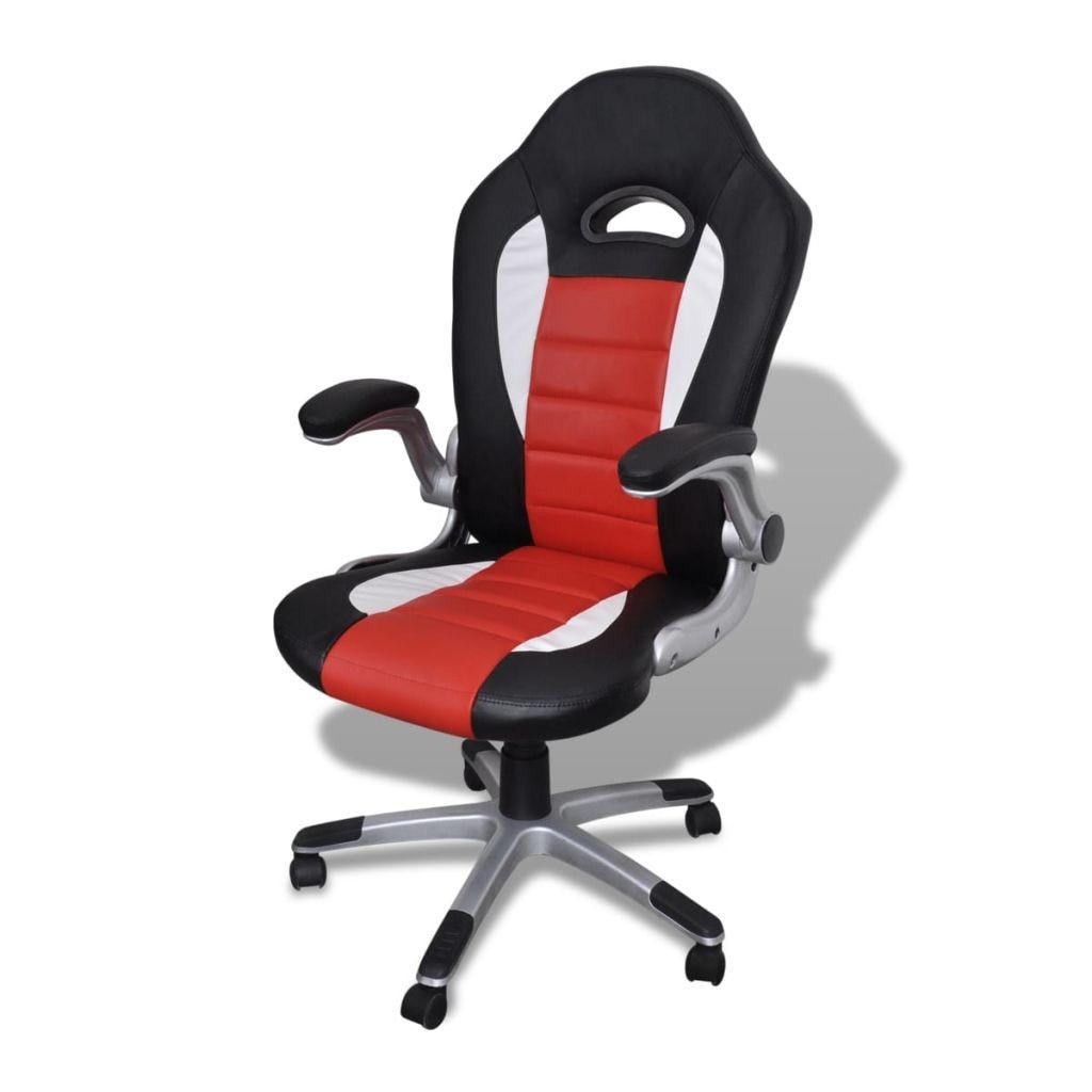 vidaXL Piros Irodai Műbőr Szék Modern Tervezéssel